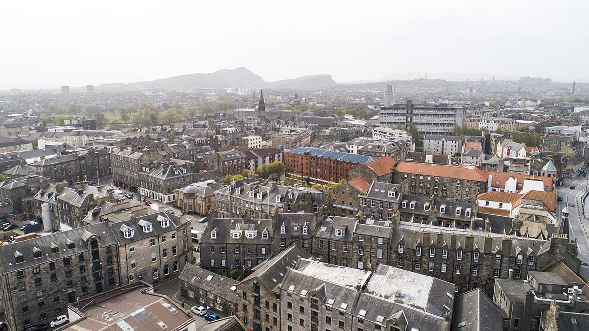 shore edinburgh drone