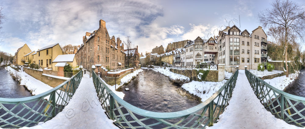Dean Village Snow Panoramic