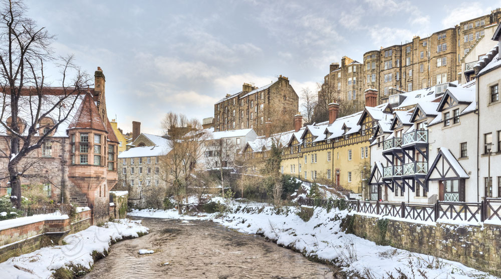 Dean Village Snow Panoramic