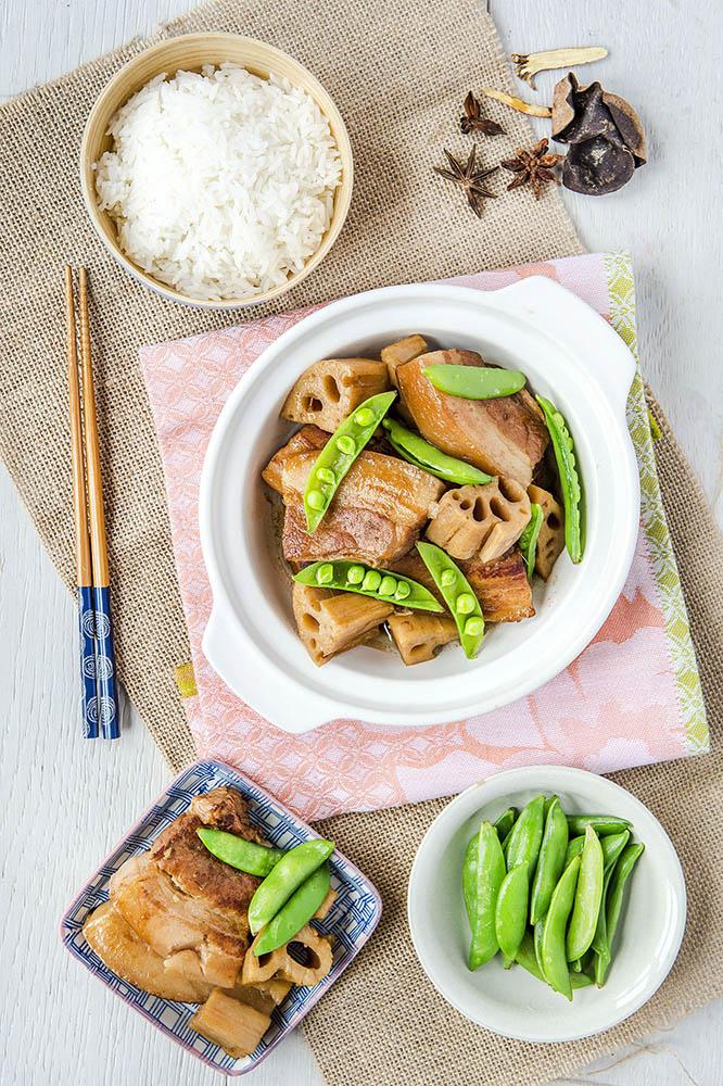 Stewed Pork Belly with Lotus Root