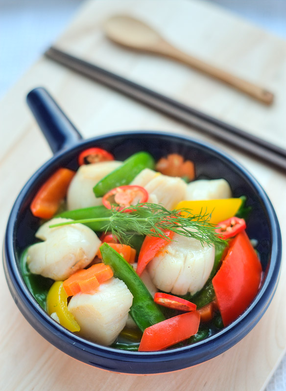Chinese Sixi Scallops Recipe