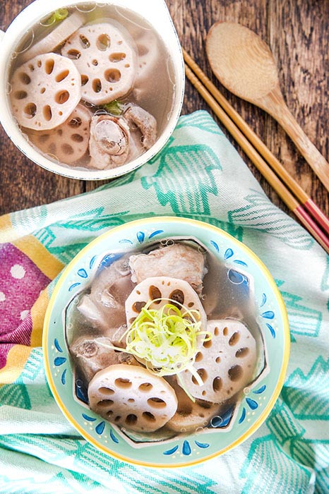 lotus root rib soup