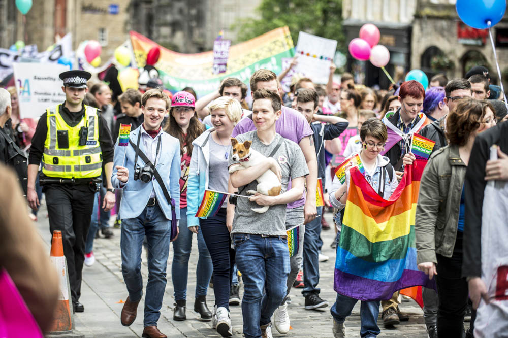 Pride Parade Edinburgh Wedding