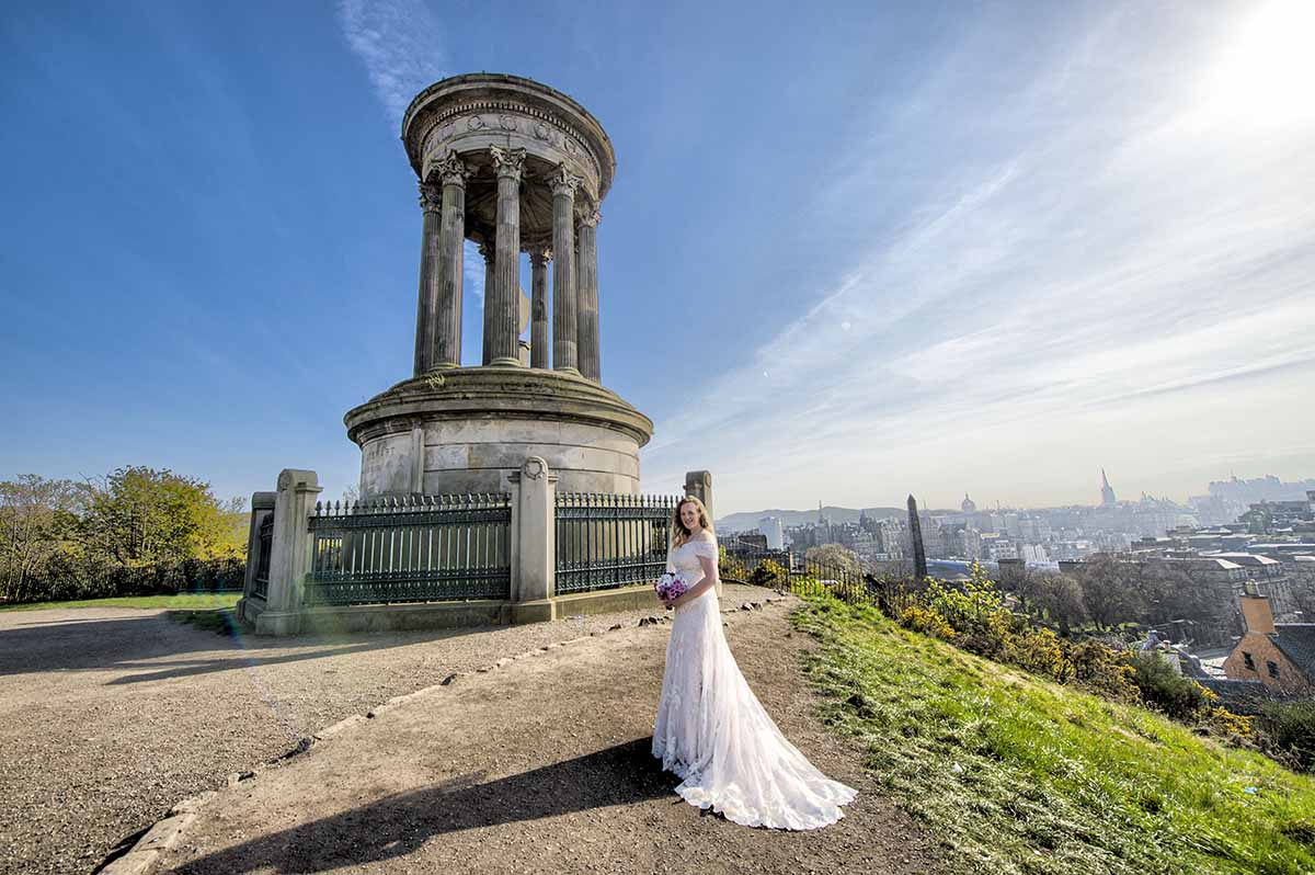 calton hill edinburgh wedding