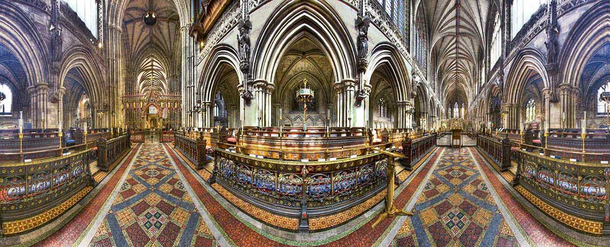 lichfield cathedral birmingham panorma