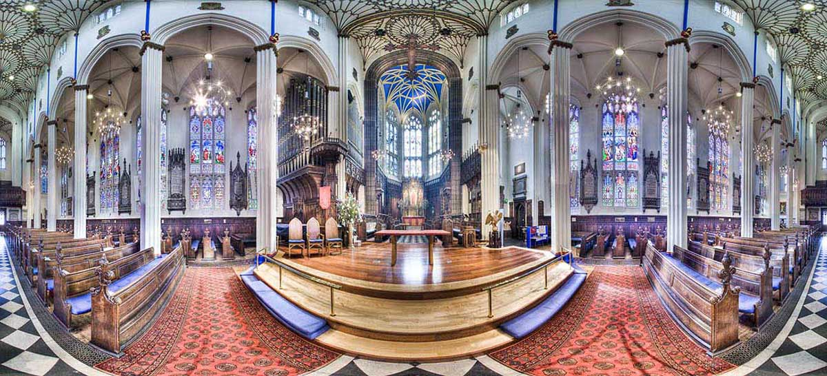 st johns church edinburgh panorama