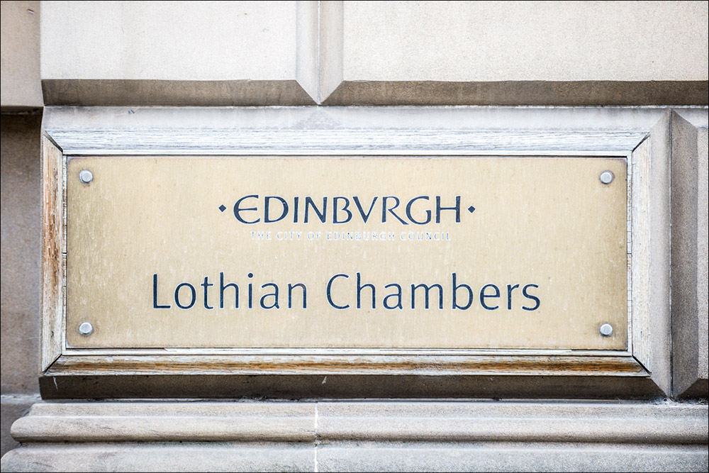 edinburgh lothian chambers sign