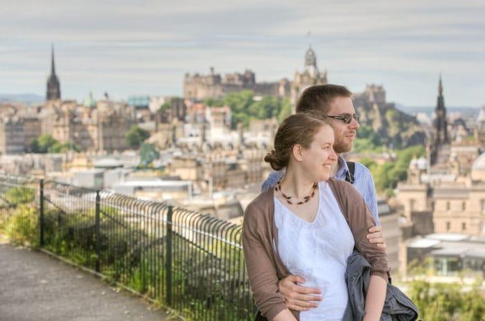Calton Hill Edinburgh Wedding Shoot