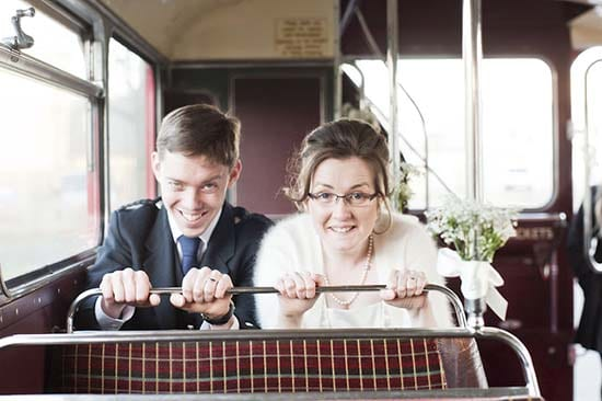 Lothian Chambers and Red Bus Wedding