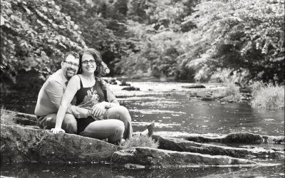 Dean Village Edinburgh Engagement Shoot