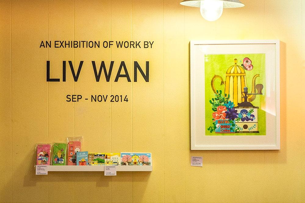 Liv Wan Illustration at Hula Juice Bar and Gallery