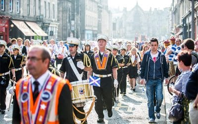 Orange Order Parade Edinburgh Old Town