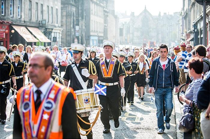 Orange Order Parade Edinburgh Old Town
