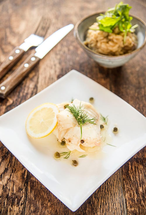 lemon and caper baked cod
