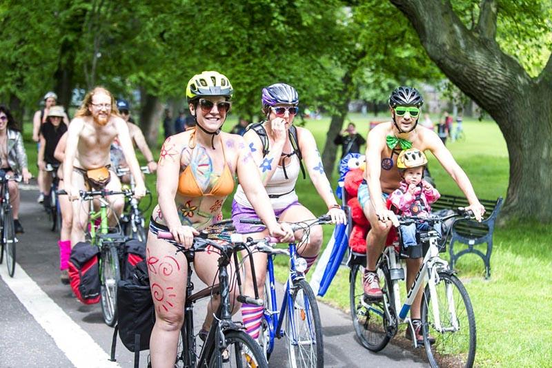 World Naked Bike Ride Edinburgh 2017
