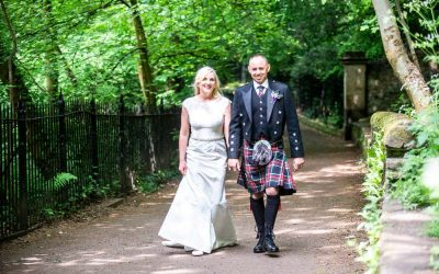 Edinburgh Castle Dean Village Wedding