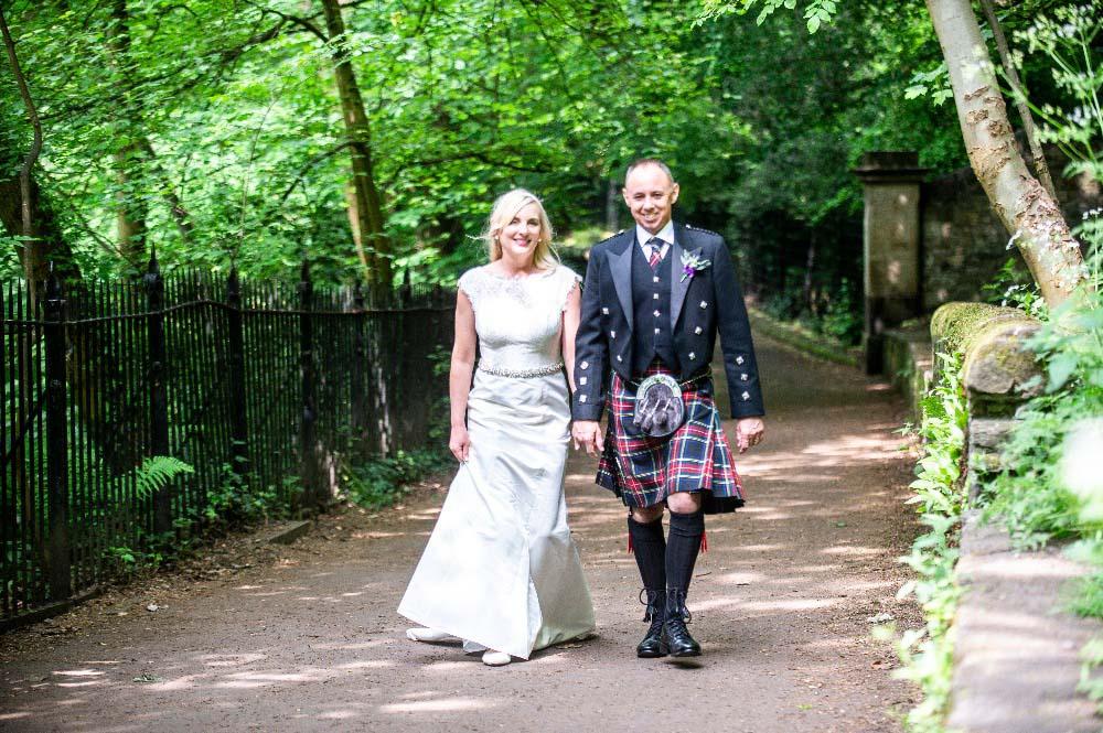 Edinburgh Castle Dean Village Wedding