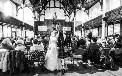 St Columba's Free Church Wedding