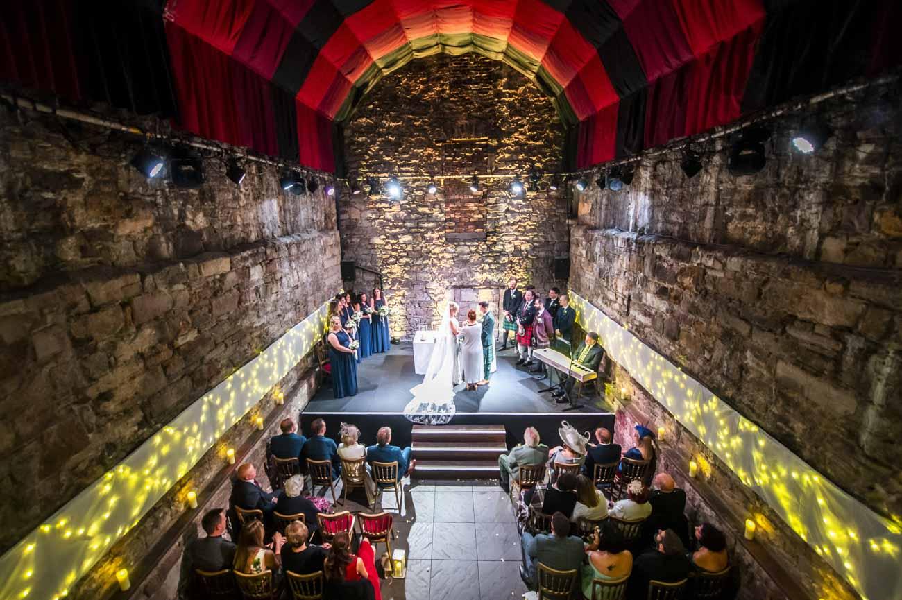 caves edinburgh wedding